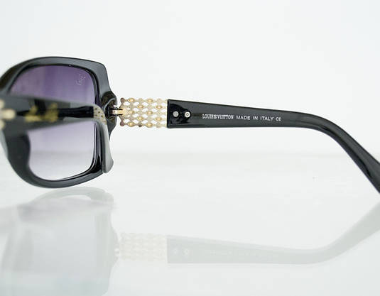 Очки женские солнцезащитные брендовые Louis Vuitton (Луи Витон) - Черные - 0851, фото 3