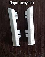 Пара заглушек (полипропилен) для плинтуса Profilpas Metal Line 95/