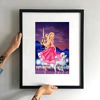 Картина Барби в Париже ММДС-011 [Материал: Габардин подклеенный флизелином]