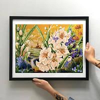 Картина Сказочное цветение ММЦ-011 [Материал: Габардин подклеенный флизелином]