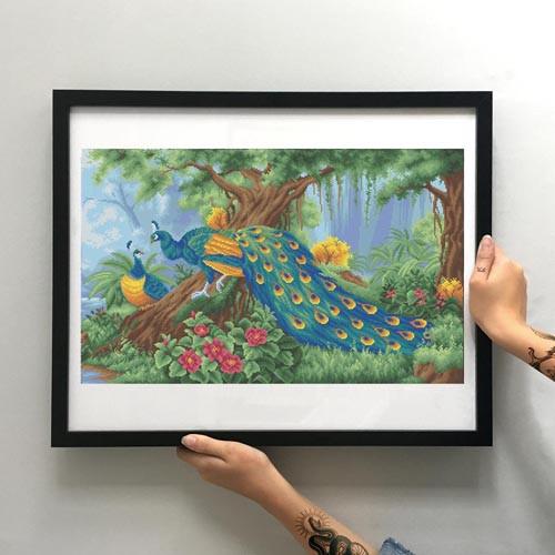 Картина Райский сад ММЖМ-015-Б [Материал: Габардин подклеенный флизелином]