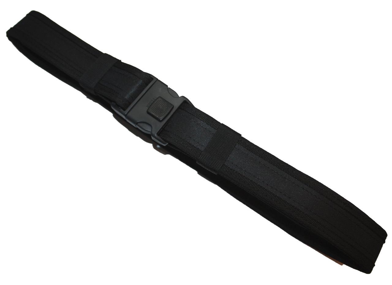 Ремень жесткий 140 см черный Полиция