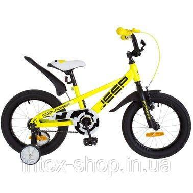"""Велосипед дитячий двоколісний 16 дюймів FORMULA JEEP 16"""" OPS-FRK-16-055 ( Жовтий)"""