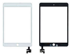 Сенсор (тачскрін) для планшета Apple iPad Mini, iPad Mini 2 Retina (з мікросхемою) білий, фото 2