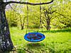 Качеля гнездо подвесная садовая 95cm Neo-Sport Swingo XXL синий (9270), фото 6