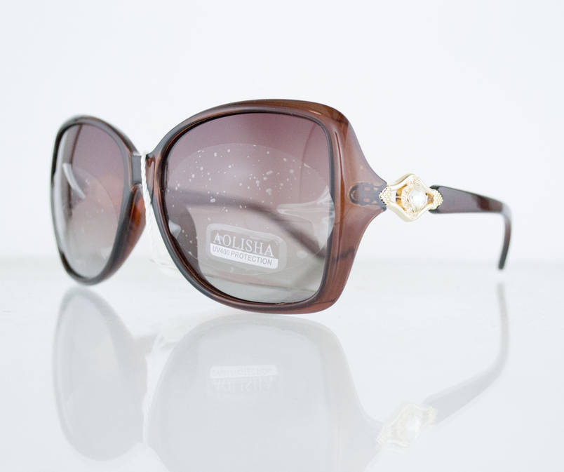 Очки женские солнцезащитные поляризационные - Коричневые - 1553, фото 2