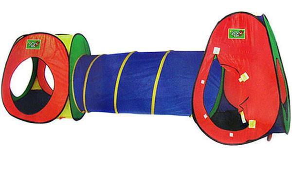 Детская игровая палатка с тоннелем 5015