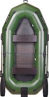 Надувная лодка Bark B270NP двухместная с навесным транцем и привальным брусом, гребная + сиденье в подарок!