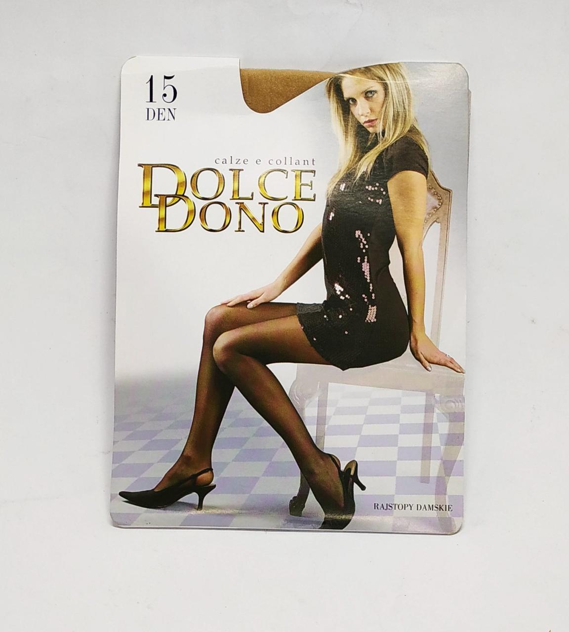 Колготки капроновые Dolce Dono 15 DEN бежевые