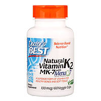 Витамин К2 Doctors Best в форме МК-7 Vitamin K2 as MK-7 100 мкг 60 капсул DRB00334, КОД: 1726133
