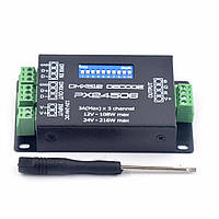 DMX512 декодер усилитель PX24506   RGB 12-24 В   для адресуемой ленты, фото 1