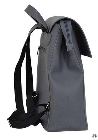 Женский рюкзак кожзам Case 608 серый, фото 2