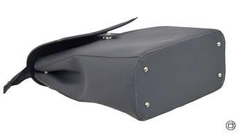Женский рюкзак кожзам Case 608 серый, фото 3
