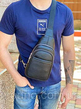 Мужская повседневная нагрудная сумка слинг через плечо