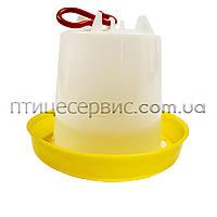 Вакуумна поїлка на 4,5 л з гаком жовтий., фото 1