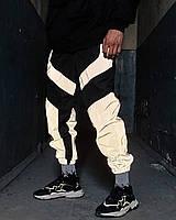 Спортивные штаны Пушка Огонь Dex черные с рефлективом черные