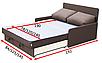 Прямой диван Рондо 120 Вика, фото 4