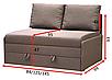 Прямой диван Рондо 120 Вика, фото 3