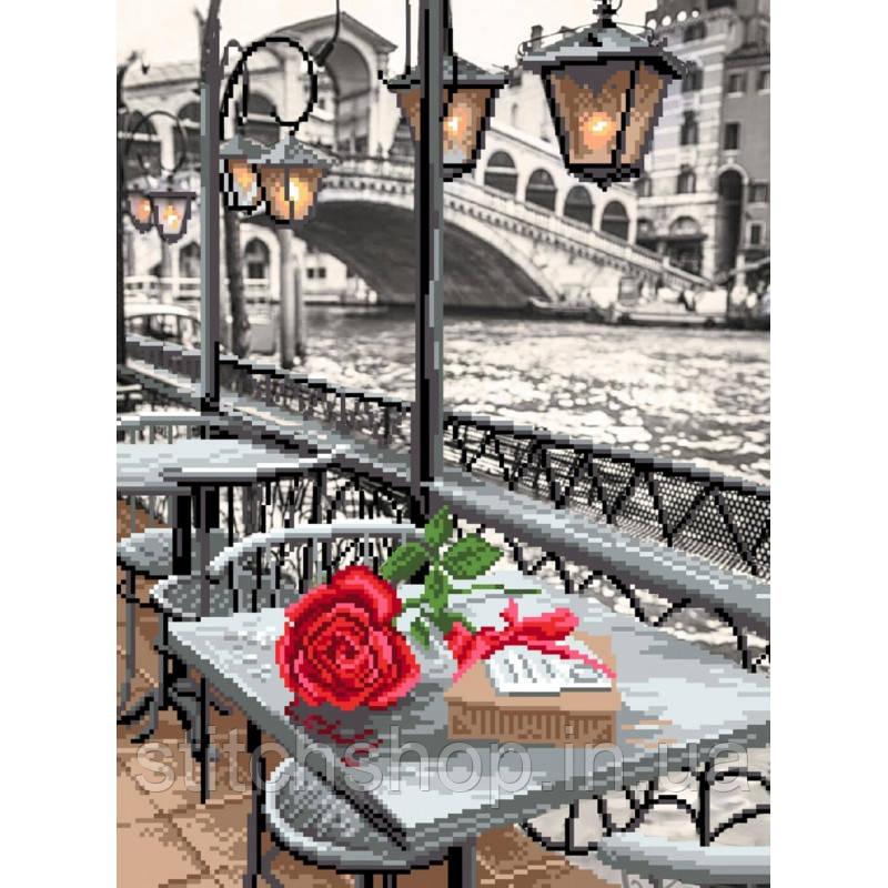 0122/Б Венецианское кафе. Матрёнин Посад. Набор для вышивания бисером