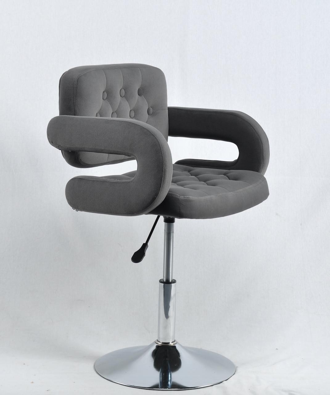 Кресло парикмахера Гор GOR CH - BASE Б-Т серый бархат