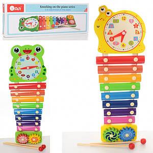 Деревянная игрушка Ксилофон MD 2170 (Улитка)