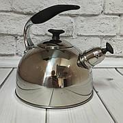 Чайник со свистком для газовой плиты 2.5л с капсульным дном