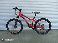 Горный подростковый велосипед Azimut Forest 24 красный  85% собран.в коробке + ПОДАРОК!!!