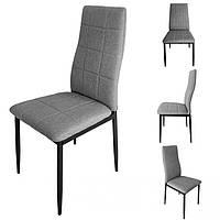 Набор 4 стулья для кухни и бара GoodHome F261FP текстиль серый (9272)
