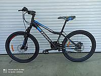 Горный подростковый велосипед Azimut Forest 24 черно-синий  85% собран.в коробке + ПОДАРОК!!!