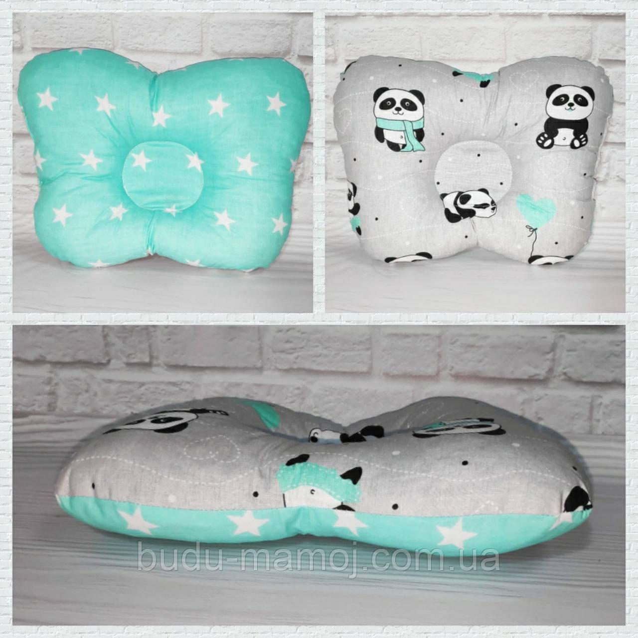 Подушка ортопедична для новонародженого метелик бавовна Польща