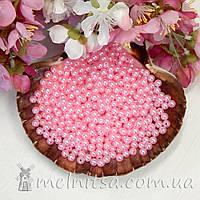Бусины перламутровые 6 мм, розовые (50 шт)