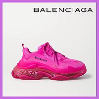 Женские кроссовки Balenciaga Triple S Clear Sole Full Rose