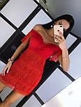 Жіноче шикарне чарівне плаття з бахромою червоне, біле і чорне, фото 4