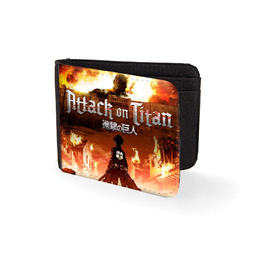 """Кошелек Атака Титанов """"On Fire"""" /аниме сувениры Attack on Titan"""