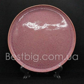 Тарелка мелкая - 27 см, Розовая (UNO PRO) Розовый рассвет