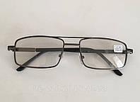 Мужские очки хамелеоны для зрения ( стекло)