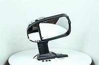 Зеркало боковое ГАЗ 3302 нового образца с поворотом левое черное, глянец (Дорожная Карта) 46.8201021-50