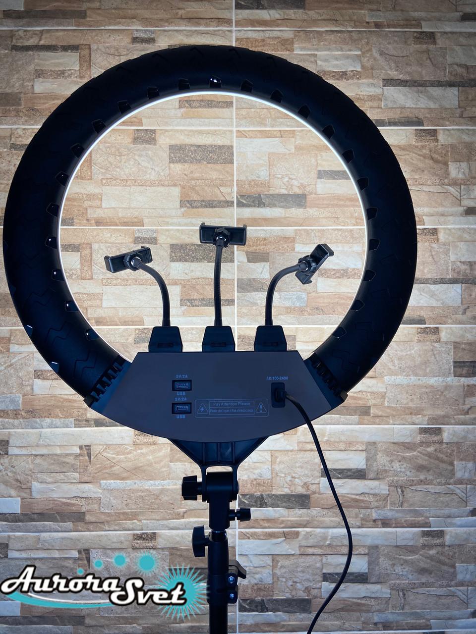 Кольцевая лампа 56см.512 led.55вт.Профессиональная кольцевая лампа с сумкой в комплекте