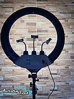 Кольцевая лампа 56см.512 led.55вт.Профессиональная кольцевая лампа с сумкой в комплекте, фото 1