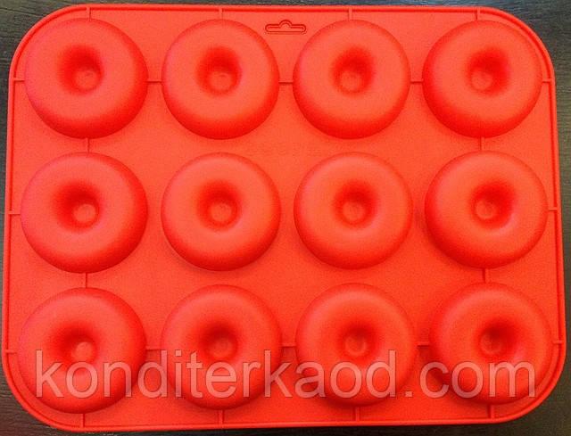 Силиконовая форма  Пончики 12 шт 32,5*24,5*2 см