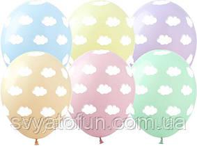 Латексні кульки Хмари рожевий+синій 100 шт/уп GR-11 ArtShow