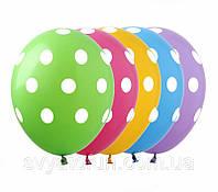 Латексные воздушные шарики Горошек ассорти 100шт/уп GR-5 ArtShow