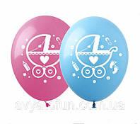 Латексные воздушные шарики Коляска 100шт/уп SDR-25 ArtShow