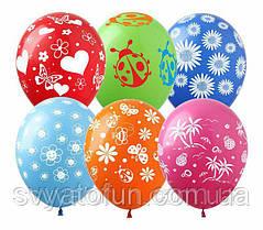 Латексные воздушные шарики Лето микс 100шт/уп LE-21 ArtShow