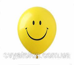 """Латексні повітряні кульки """"Смайлик"""" (жовті), SM/1, 20 шт/уп, ArtShow"""
