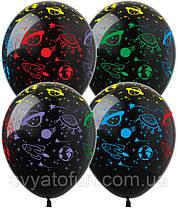"""Латексні повітряні кульки """"Космос"""" 100шт/уп DM-1 ArtShow"""