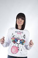 Стильные женские свитшоты с принтами с капюшоном от производителя оптом и в розницу