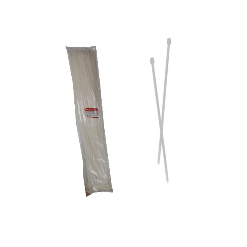 ElectroHouse Стяжка кабельная белая 9x1220