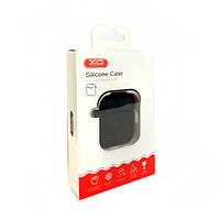 Чехол силиконовый XO для Apple Airpods 4в1 (черный)