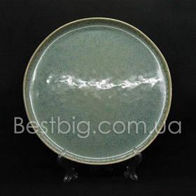 Тарелка мелкая - 27 см, Темно-зеленая (UNO PRO) Луна